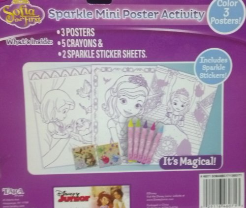 Disney Sofia the First ~ Sparkle Mini Poster Activity by Tara Toys - 1
