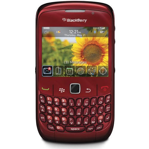 BlackBerry 8520OEMRED Gemini 8520 Unlocked Phone with 2 MP Camera, Bluetooth, Wi-Fi - Unlocked Phone - International Warranty - Red