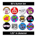 Misc. 80's BUTTONS (set #1) pins slog...