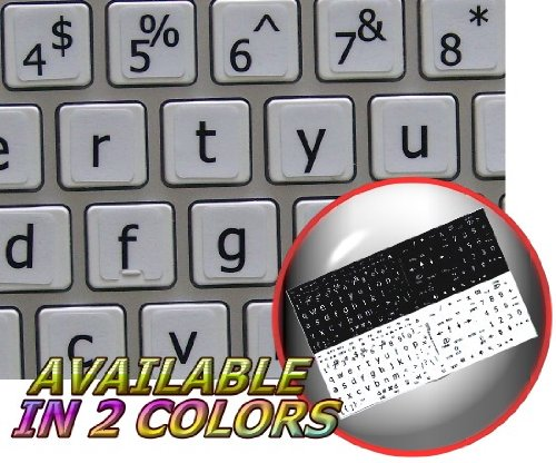 MAC ENGLISH LARGE LETTERING (LOWER CASE) KEYBOARD STICKER WHITE BACKGROUND FOR DESKTOP, LAPTOP AND NOTEBOOK