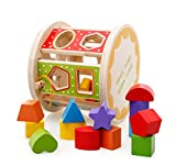 Lewo Wooden Rolling Shape Sorter Toys for Kids