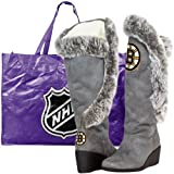 NHL Boston Bruins Ladies Charcoal Team Supporter Knee-High Boots (9) at Amazon.com