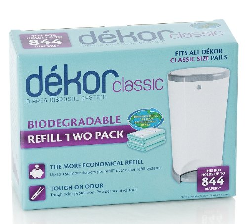 Diaper Dekor Refills - Biodegradable (2 Pack) - Regular(Classic)
