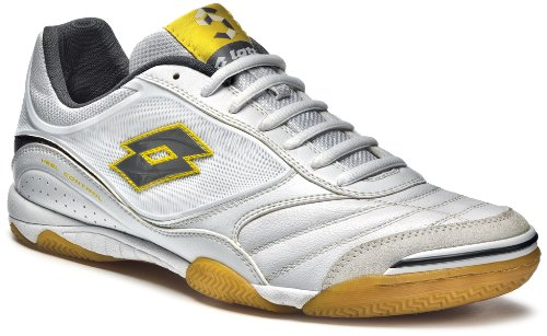 Lotto Futsal Pro IV Indoor Mens Shoes, white / cool grey