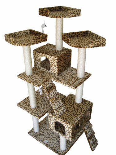 GoPetClub Cat Tree Toy Condo Scratcher Post Pet Furniture F2038