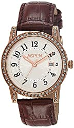 Aspen Analog White Dial Womens Watch - AP1904
