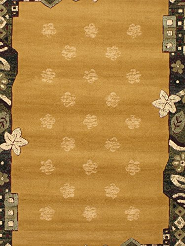 eCarpetGallery Royale 5-Feet 3-Inch by 7-Feet 5-Inch Polypropylene Rug, Light Brown