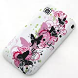 ECENCE Samsung Galaxy S GT-i9000 S Plus i9001 Durable Silicon Gel Skin TPU Case Cover butterfly white 13020506