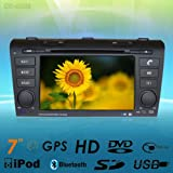 "7""car DVD GPS Navigation Radio Audio Bluetooth Tv Am Fm for Mazda 3 Suits for 2004-2009"