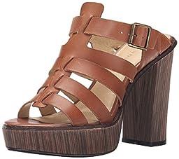 Very Volatile Women\'s Steadfast Dress Sandal, Cognac, 8 B US