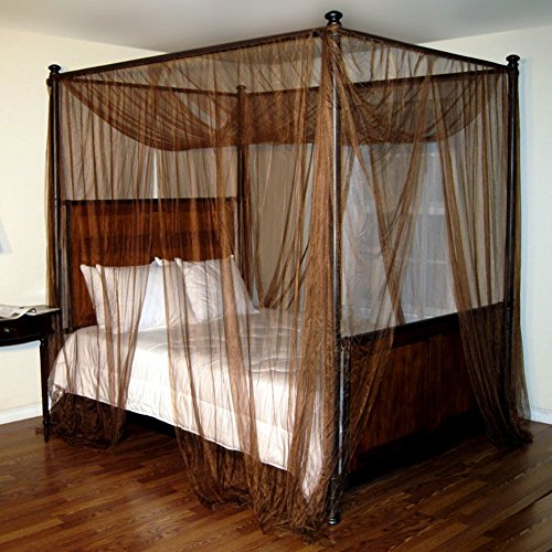 Palace Four-Poster Brown Bed Canopy & Palace Four-Poster Brown Bed Canopy | HealMoProducts
