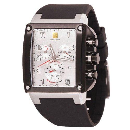 47485fbeca Steinhausen Men s TW524W Riviera Retro Sport Swiss Quartz White Dial Watch