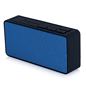 Bluetooth Speakers, Ultrathin Mini Portable Wireless Bluetooth Speaker, Powerful Sound with Microphone, Rechargeable Battery 7 hours playtime for Iphone Samsung Ipad MP3 Player Tablet (A6-Blue)
