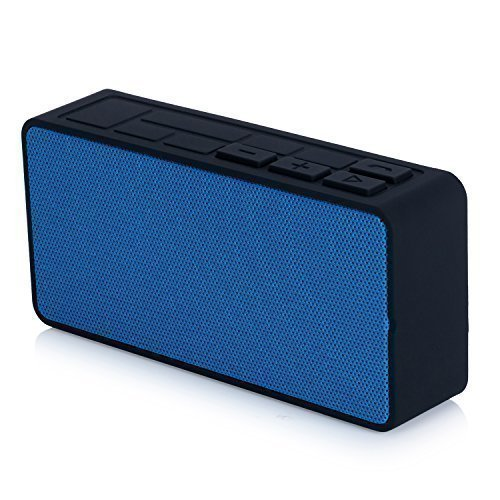 Altoparlante Bluetooth, Ultrasottile Mini Altoparlante Senza Fili Bluetooth Portatile, Potente Audio con Microfono, Batteria Ricaricabile per 7 ore di Ripronduzione musicale per Iphone Samsung Ipad MP3 Tablet A6 (blu)