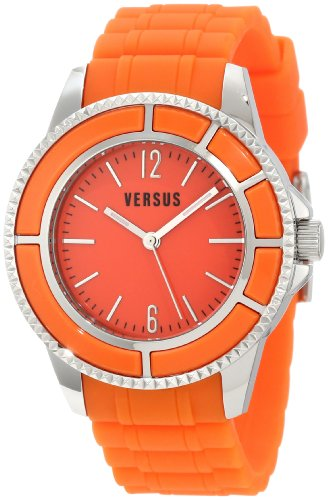 Versus by Versace Women's 3C61200000 Tokyo Orange Dial Rubber Watch