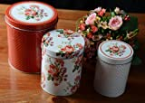 Set of 3 katie alice scarlet posy shabby chic nested storage tins
