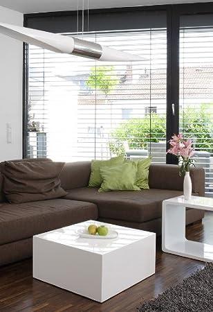 SalesFever Kubus Couchtisch quadratisch Hochglanz L 60 x B 60 x H 30cm, weiß