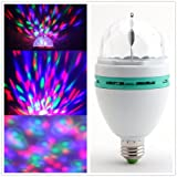 Masione E27 LED Crystal Ball Magic Ball Stage Lights RGB Rotating Lamp For Disco Ballroom KTV Bar Stage Club Party etc