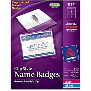 Amazon Com Ave5384 Avery Badge Holder Kit W Laser