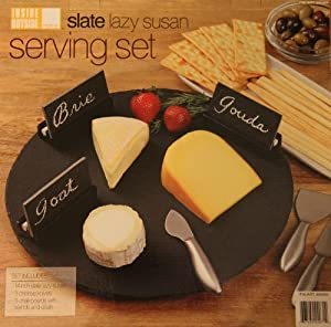 Slate Lazy Susan Serving Set by Mullally International Inc