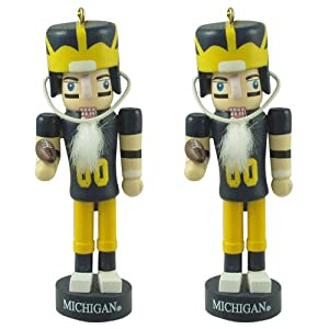 University of Michigan Wolverines Mini Nutcracker Ornaments