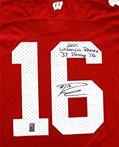 Russell Wilson Autographed Hand Signed Wisconsin Badgers Jersey