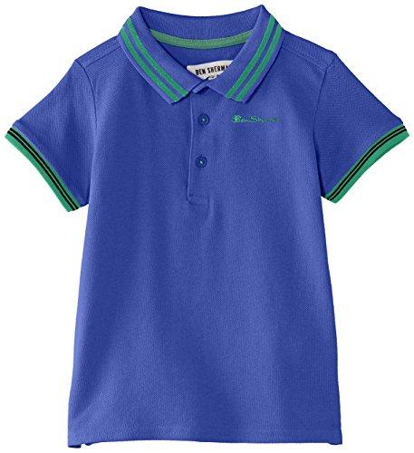 Ben Sherman - Classic Polo, T-shirt per bambini e ragazzi,  manica corta, collo polo, blu(Blau - Blue (Surf The Web)), Taglia produttore: 14-15 anni