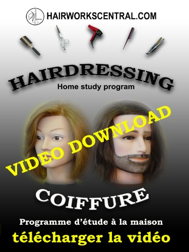 V4L10b - Women's blowdry -blowdrying a basic cut -Sides pinned up -LIVE!