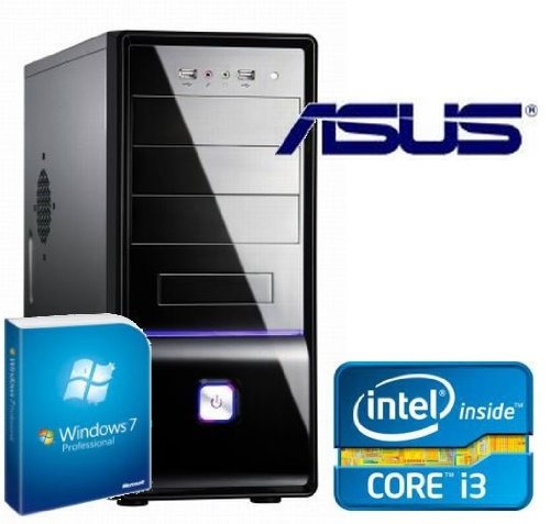 Tronics24 Istarter PC Intel Core i3-2120 (Dualcore) Sandy Bridge 2 x 3.3 GHz, 4 GB DDR3, Asus, 500 GB Sata3 , Intel HD2000, USB 3.0, SATA3, Microsoft Windows 7 Pro, DVD-Brenner, Sound, GigabitLan, Cardreader, OFFICE PC