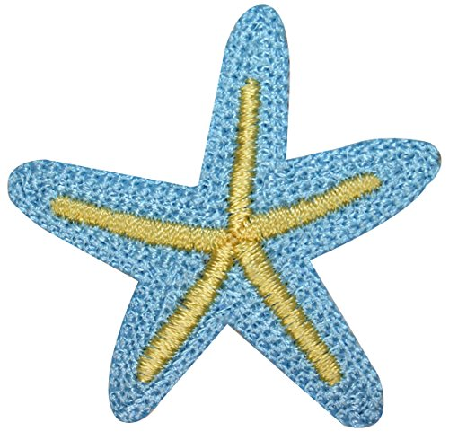 ID #0326A Starfish Sea Star Tropical Beach Embroidered Iron On Applique Patch
