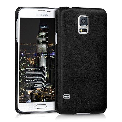 kalibri-Backcover-Hlle-aus-Echtleder-fr-Samsung-Galaxy-S5-S5-Neo-S5-Duos-in-Schwarz