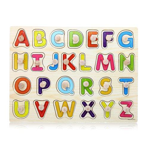 facilla jouet jeux educatif apprentissage 26 lettres alphabet en bois pour enfants notre. Black Bedroom Furniture Sets. Home Design Ideas
