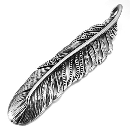 Kalendone Stainless Steel Feather Necklace