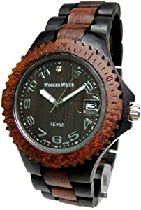 Tense Dark & Light Multicolored Mens Wood Sports Watch G4100DS ANDF by Tense