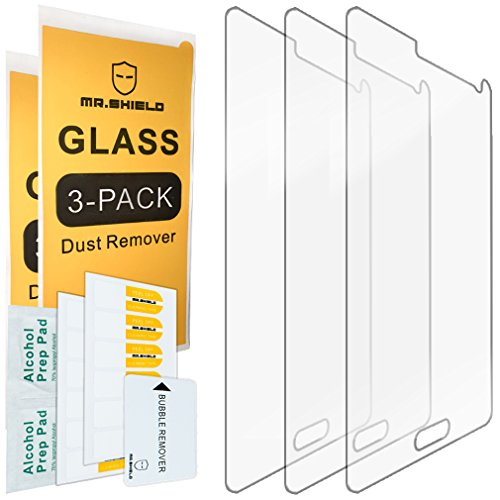 [3-PACK] - Mr Shield For Samsung Galaxy Note 4 [Tempered Glass] Screen Protector [0.3mm Ultra Thin 9H Hardness 2.5D Round Edge] with Lifetime Replacement Warranty (Galaxy Note Edge Protector Glass compare prices)