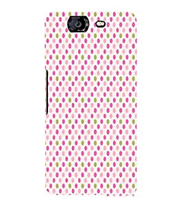 Pink Gold Fun Pattern 3D Hard Polycarbonate Designer Back Case Cover for Micromax Canvas Knight A350