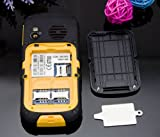 Enjoy® Waterproof Dustproof Shockproof Android IP67 Dual SIM Card BLT Camera Torch SOS Rugged Senior phone (Yellow)