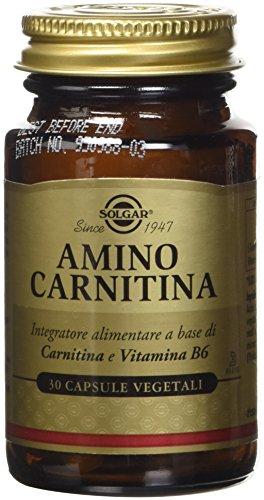 Solgar Amino Carnitina Integratore Alimentare a Base di Amminoacidi - 30 Capsule