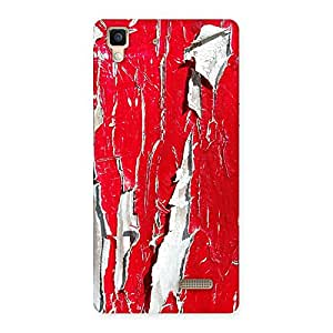 Special Red Ripped Paint Print Back Case Cover for Oppo R7