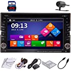 Win8 GPS 6.2 Inch 2Din Touch Screen BT Bluetooth TV Navigation iPod Subwoofer Output SD/USB Support Car Vehicle DVD Player Radio Stereo + Backup Rear View Camera