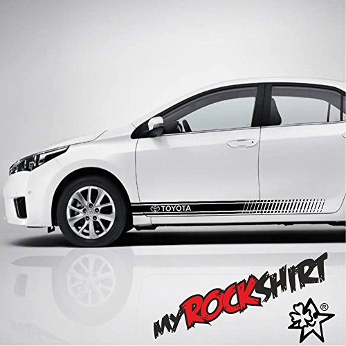 2-x-Toyota-Page-rayures-aufklener-160-x-12-cm-Tuning-Stickers-Decal