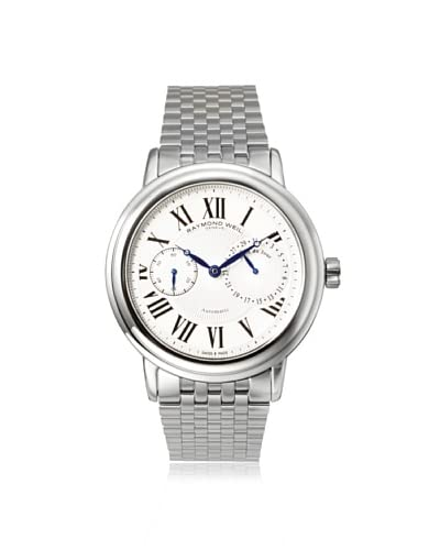 Raymond Weil Men's 2846-ST-00659 Maestro Silver/White Stainless Steel Watch