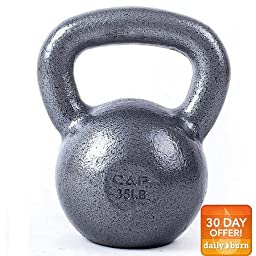 CAP Barbell Cast Iron Kettlebell, Grey 35 lbs