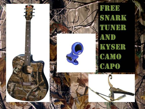INDIANA Acoustic-Electric Guitar – Mossy Oak Infinity Camouflage*(FREE CAMO CAPO AND TUNER)*