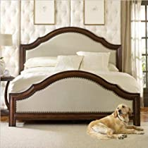 Hot Sale Hooker Furniture Classique Linen Panel Bed in Medium Chestnut -