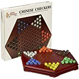 YMI Chinese Checkers Halma Marble Wooden Game Set w/ Drawers - 11.75""
