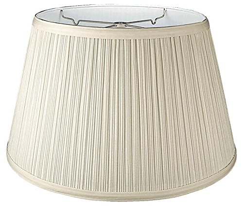 Cream Pleated Hardback Floor Lamp Shade Cotton Polyester Mushroom Pleated Fabric Durable White Liner