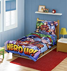 Marvel Super Hero Squad Toddler Bedding 4pc Set,