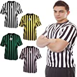 Mato & Hash Mens Short Sleeve Crewneck Referee Ref Bar Shirt Black/White L