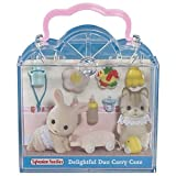 Sylvanian Families Delightful Duo Carry Case rabbit and squirrel